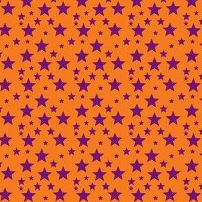 Purple star on Orange