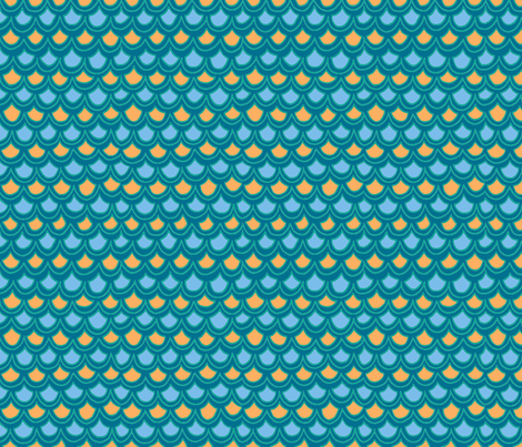 fun waves in blue fabric by lifeisswell on Spoonflower - custom fabric