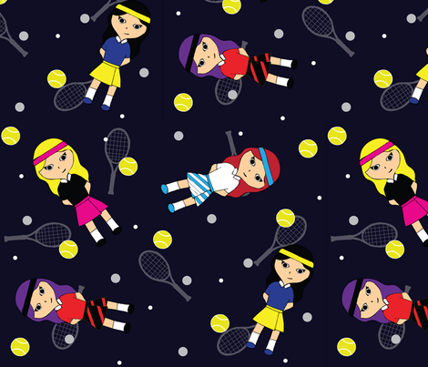 TennisGirls fabric by jeskha32 on Spoonflower - custom fabric