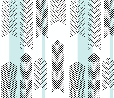 chevron stripe in mint