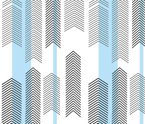 chevron stripe in sky blue