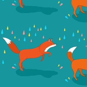 foxes + raindrops