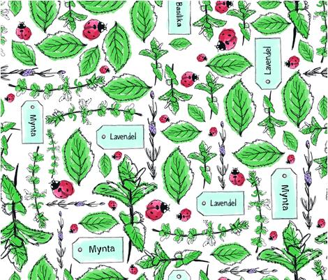 My garden is alive fabric by sinelinea on Spoonflower - custom fabric