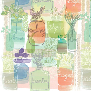 Herb Garden in Jars