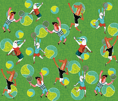 tennis fabric by misslin on Spoonflower - custom fabric