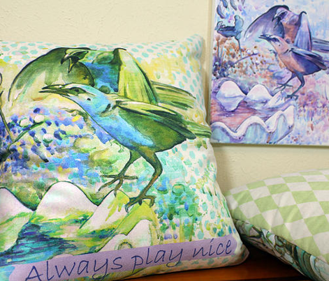Set of 3 Bird pillow covers