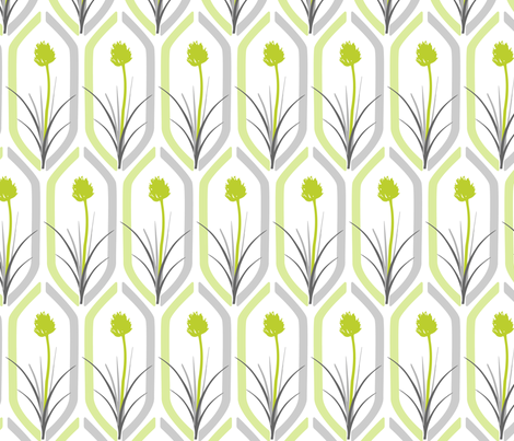 Retro Chives fabric by emma_smith on Spoonflower - custom fabric