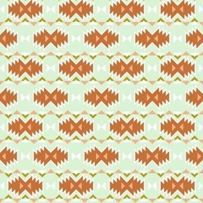 Orange Mint Kilim SMALL SCALE