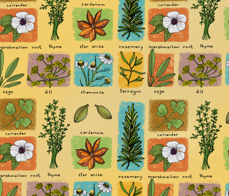 Pockets of Herbs fabric by missy_warp on Spoonflower - custom fabric