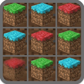 Multi-colored grass blocks