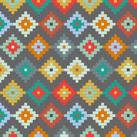 Dark Winter Moroccan SMALL SCALE fabric by mrshervi on Spoonflower - custom fabric