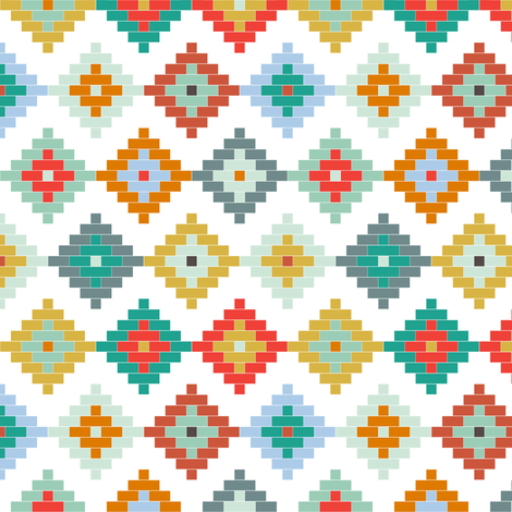 Winter Moroccan SMALL SCALE fabric by mrshervi on Spoonflower - custom fabric