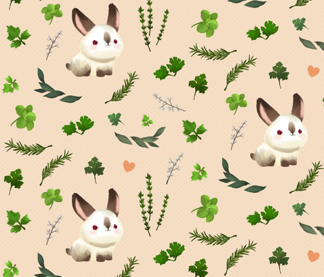 Francis's Herb Garden fabric by thousandskies on Spoonflower - custom fabric
