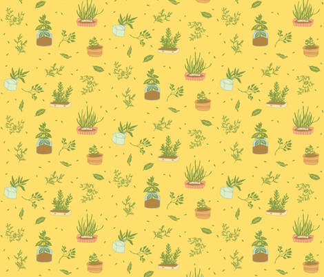 Herb Garden fabric by momshoo on Spoonflower - custom fabric
