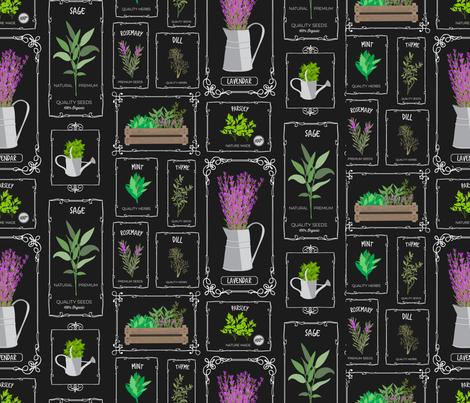 herbgarden-01 fabric by brookewittdesign on Spoonflower - custom fabric