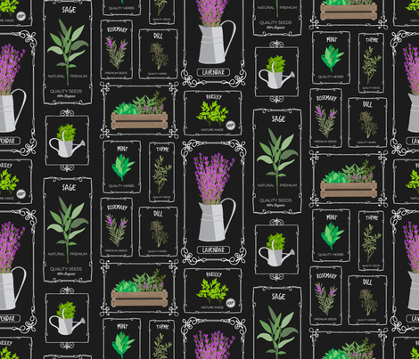 herbgarden-01 fabric by brookewittdesign on Spoonflower - custom fabric