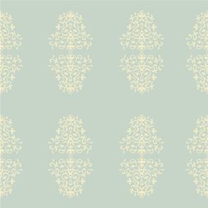 Fleur de lis turquoise