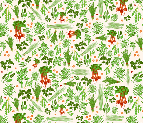 Ingela Herbs fabric by fossan on Spoonflower - custom fabric
