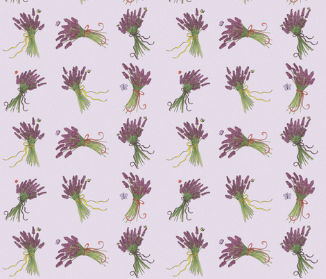Memories_of_Sequim_lavender fabric by mgdoodlestudio on Spoonflower - custom fabric