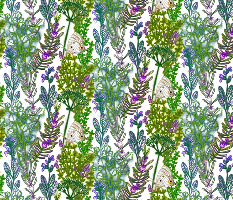 Parsley Sage Rosemary and Thyme fabric by stitchyrichie on Spoonflower - custom fabric