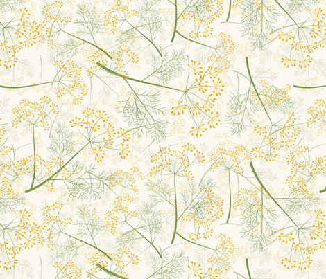a field of dill fabric by kociara on Spoonflower - custom fabric