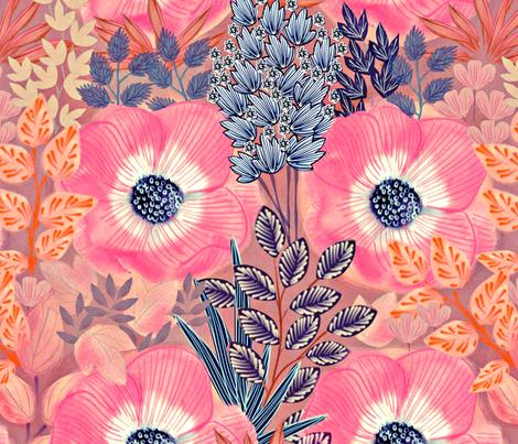Anemones fabric by susan_polston on Spoonflower - custom fabric