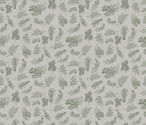 hand picked herbs fabric by madex on Spoonflower - custom fabric