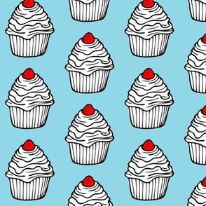 Cupcake in Blue
