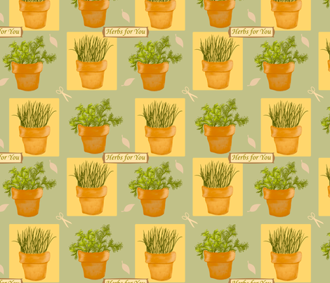Herbs4u fabric by chovy on Spoonflower - custom fabric