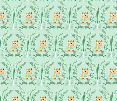 In My Garden - Mint fabric by michalwright-ward on Spoonflower - custom fabric