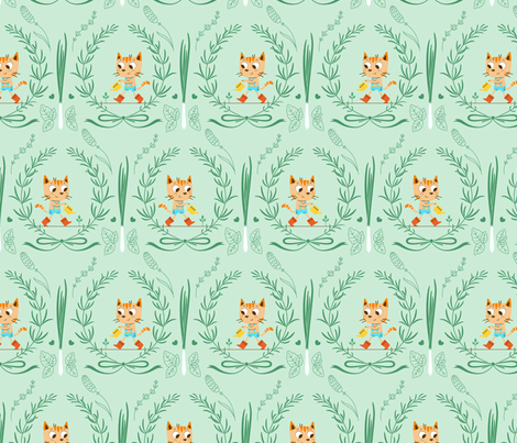 In My Spring Garden - Mint fabric by michalwright-ward on Spoonflower - custom fabric