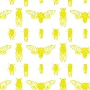 Cicadas in acid yellow