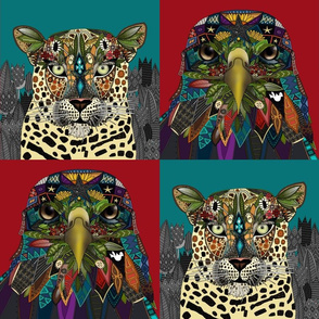 American Eagle Leopard Queen art panels