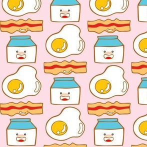 Egg + Bacon + Milk in Piggy Pink