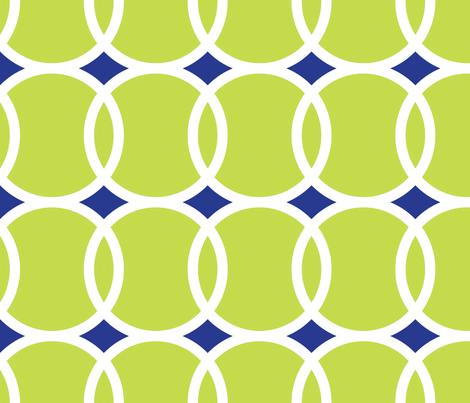 Tennis Ball Geometric fabric by mariafaithgarcia on Spoonflower - custom fabric