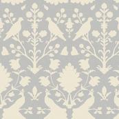 Oiseaux in Platinum and Cream