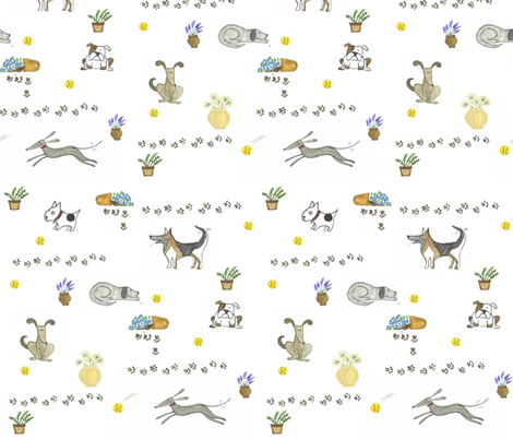 An Accident Waiting to Happen! fabric by moose&quill on Spoonflower - custom fabric