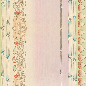 Japanese double border fabric