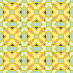 English Knot Spring Cheater Quilt