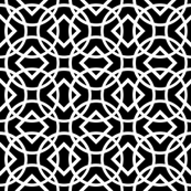 Knot Lattice - Black and White