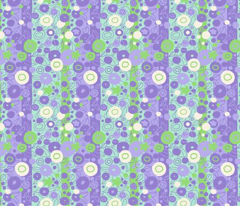Sixties Deco Circles Purple