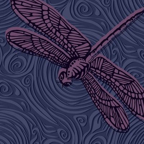Dragonfly damselfly dragonfly - purple