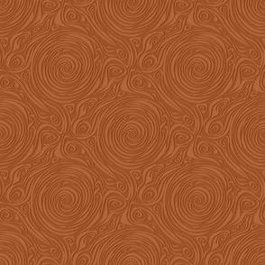 dragonfly spiral - brown