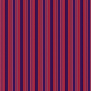 Red on purple stripe
