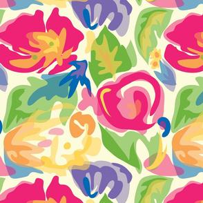 Bright Watercolor Floral