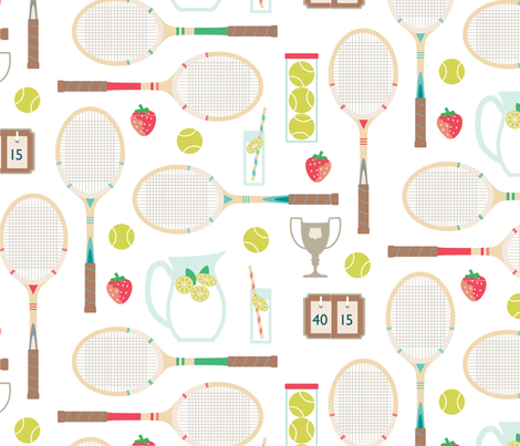 Sunday Tennis Comp fabric by thepaperdrawer on Spoonflower - custom fabric