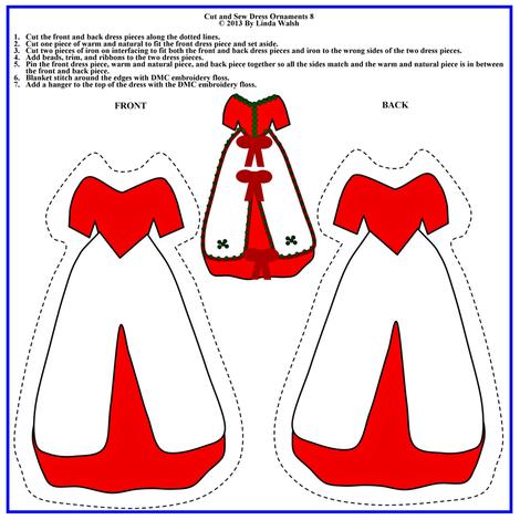 Victorian Cut and Sew Dress Ornament