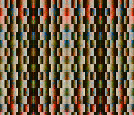 Sunrise on Foggy Mountain Weave (vertical) fabric by anniedeb on Spoonflower - custom fabric