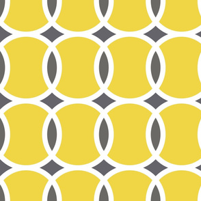 yellow tennis ball geometric