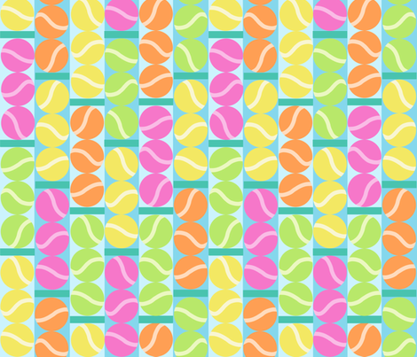 Fresh Tennis Balls fabric by elramsay on Spoonflower - custom fabric